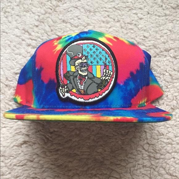 849bf9c7252 Mishka Cyco Pusher Snapback Hat in Rainbow Tie Dye.  M 5a9eb51585e6055e3f424dab